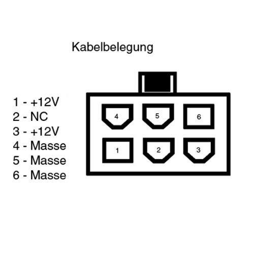 "Strom-Adapterkabel 2x 4-Pol 5,25"" Netzteil auf 6-Pol PCI-Express-Grafikkarte"