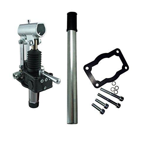 Idraulico doppio agendo pompa manuale 6 cc con doppio agendo commutazione valvola, porte relief valvole e doppio controllo pilota valvole 500 Bar range.
