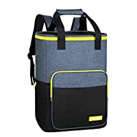 Hap Tim Cooler Backpack 30 Cans Insulated Backpack Cooler Lightweight Leak-Proof Soft Cooler Bag Large Capacity for Men Women to Picnics, Camping, Beach, Lunch, Park or Day Trips (AE-13760BK-G)