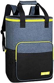 Hap Tim Cooler Backpack 30 Cans Insulated Backpack Cooler Lightweight Leak-Proof Soft Cooler Bag Large Capacit