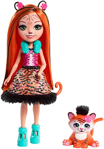 Enchantimals Muñeca Tanzie Tiger, Multicolor (Mattel FRH39)