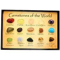scatola grafico Mini Gem - 15 gemme lucide del mondo in una vetrina