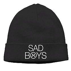 Momens Sad Boys Warm Skiing Black Beanies Tough Headwear