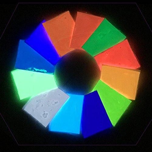 elbstleuchtendes Farbpulver Fluoreszierendes Pulver Selbstleuchtend Glühen im Dunklen Sand Bunten fluoreszierenden Super Leuchtenden Glow Pigment Bright Decor ()