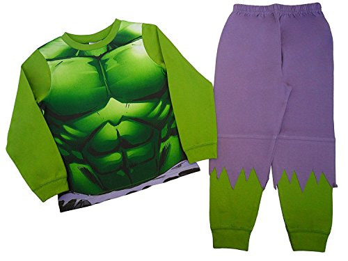 ngers Neuheit The Incredible Hulk Schlafanzug Altersstufen 2 bis 8 Jahre (Charakter Dress Up)
