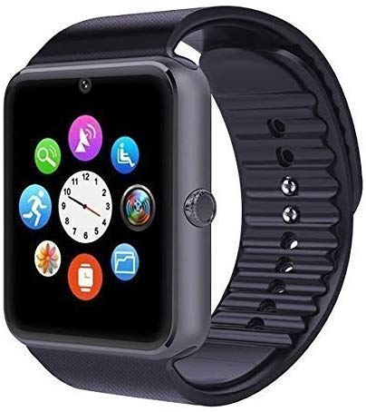 Mobicloud A1 blk 4G Touch Screen Smart Watch Phones with Camera with Sim Supports Sd Card Slot for All Android and iOS Devices