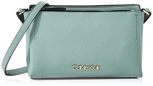 Calvin Klein Damen Sided Ew Crossbody Umhängetasche, Grau (Fern), 5x16x26 cm