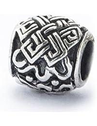 Bartperle/Perle für Dreadlocks/Schmuckperle mit keltischem Knoten aus Silber