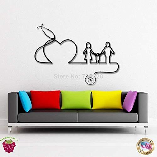 Krankenhaus Klinik Vinyl Wandtattoo Krankenhaus Arzt Familie Herz Gesundheit Wandkunst Kunst Wanddekoration Möbel Zimmer Wandaufkleber 73X56Cm