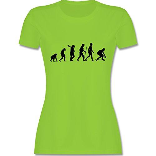 Evolution - Skateboard Evolution - tailliertes Premium T-Shirt mit Rundhalsausschnitt für Damen Hellgrün