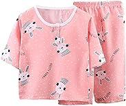 DEBAIJIA Niños Pijama 0-8T Bebé Ropa de Dormir Infantil Homewear Niña Ropa Casual Niño Animado Lindo Algodón V