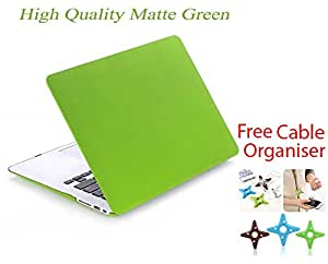 Aavjo® Ultra Matte Hard Shell Soft Light protective case cover for Apple MacBook Air 13'' inch (Model: A1369 / A1466) + Get Silicone Keyboard Guard FREE + Free Cable Organiser- Mint Green