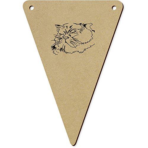 5 x 140mm 'Tête de Chat' fanions triangles en bois (BN00049760)