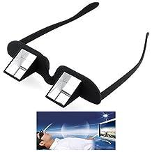 E.S.M.M.â® Gafas Unisex PrismáTicas Eyelevel Negro Gafas De Prisma Horizontal Tumbada En La Cama Leyendo O Viendo La TelevisióN