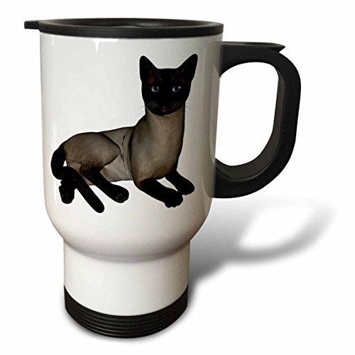 hiekon chat siamois couchée Tasse de voyage, 14-Ounce