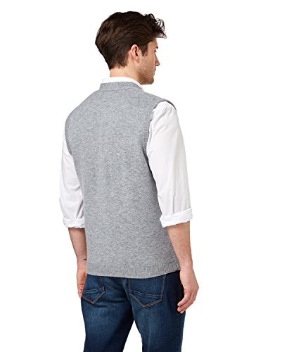 WoolOvers Gilet - Homme - Laine d'agneau Flannel Grey
