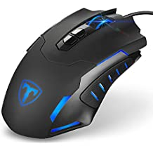 Gaming Mouse, [New Model][7200 DPI]Pictek Gaming Mice, Wired Mouse, Computer Mouse PC Mouse 7200 DPI Programmable LED Mice with 5 DPI Adjustable, 7 Buttons for Gamer Win 10/8/7/XP
