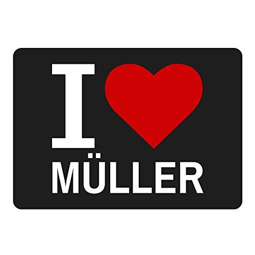 Mousepad Classic I Love Müller schwarz