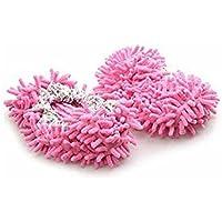 Lyanther Slippper Mop Slippers Scarpe Comode per Pavimenti Cleaner, Rosa