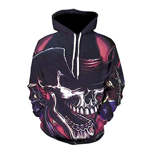 Halloween Sweatshirt Party Hoodie Tops Schädel 3D Gedruckt Langarm Pullover Gotisch Creative Hoodies M-5XL