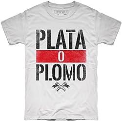 Camiseta Narcos Plata o Plomo