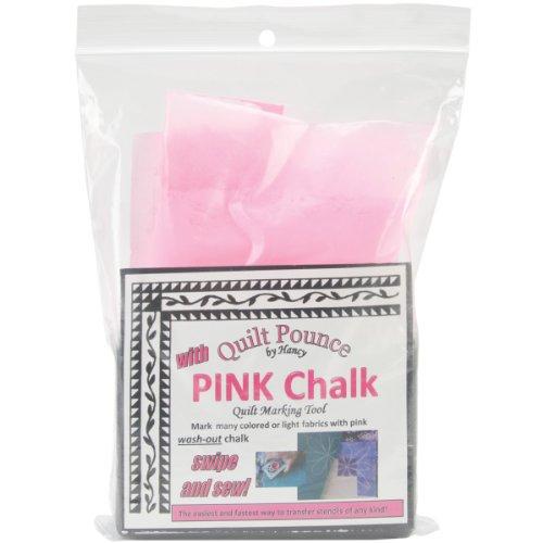 Hancy 4Oz Quilt Pounce Pad mit Kreide Powder, Pink (Fleck Kreide Farbe)