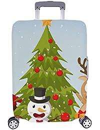 9a2922d18 Christmas Santa Claus Reindeer muñecos de Nieve Patron Spandex Trolley Case  Viaje Equipaje Maleta de 28