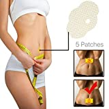 HOUSON 5pcs Slimming Patch, Fat Burning Slim Pads Natural Ingredients Belly Abdomen Leg Arm Weight Loss Fat Burning Slim Anti Cellulite & Fat Burning, Bauchabnehmen, Starke Wirksamkeit Sicherheit