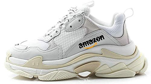 Sports Chaussures Sneakers Triple S Sneakers Cream White Chaussures de Gymnastique Homme Femme,EU 36