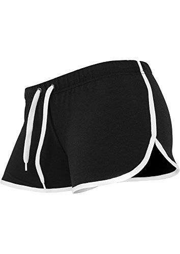 Ladies French Terry Hotpants blk/wht XS (Damen French-terry-hose)