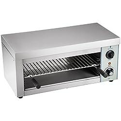 Royal Catering Salamandre Toaster Electrique Grill Cuisine RCES-2000-EGO (2.000 W, 32 x 61 x 28,50 cm, 1 élément chauffant infrarouge)