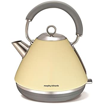 Morphy Richards 102003 Accents Pyramid Kettle, 1.5 L - Cream