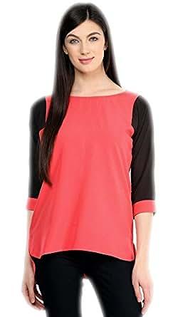 Varibha Women's Cotton Straight Kurta Yellow & Pink