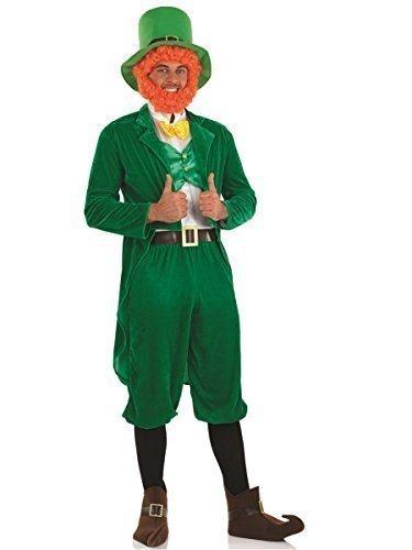Herren Kostüm Grüner Kobold St Patricks Day Irisch Verrückte Verkleidung M - XL besteht aus 7 Stück - Grün, X-Large (Herr Kobold Kostüme)