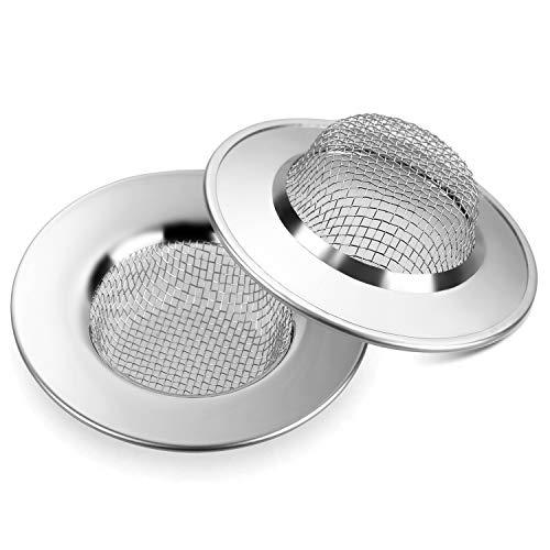 Anpro 2 Filtro Lavello Cucina acciaio Colino Acciaio Inox inossidabile Mini Sink Strainer per Prevenire il Blocco Conduit Vegetale del Filtro per