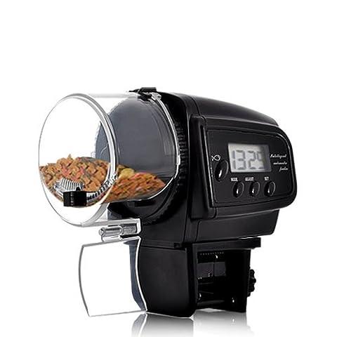Lysport Automatic Fish Feeder Réservoir de poissons d'aquarium numérique Alimentateur de nourriture Temporisateur Alimentateur d'aquarium électronique Alimentateur automatique pour animaux de compagnie avec affichage à cristaux liquides