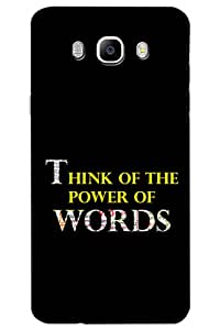 AMAN Think of The Power of Words 3D Back Cover for Samsung Galaxy On8