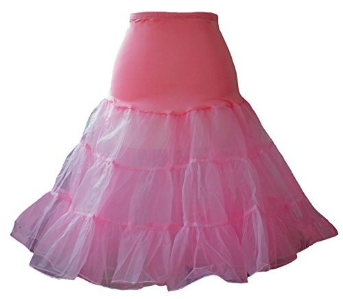 """Jupon/26 """"/ Swing Dress Déguisement Fête Rockabilly rouge/blanc-Taille 24 Noir Noir - Rose"""