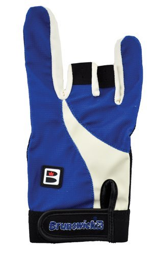 Brunswick Power X - Guante de bolos, color negro/azul, talla XL/Right Hand