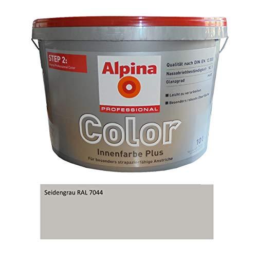 Preisvergleich Produktbild Alpina Wandfarbe RAL 7044 SEIDENGRAU Matt,  fertig abgetönt,  besonders strapazierfähige Anstriche,  10 L.