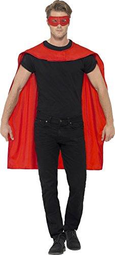g und Augenmaske, One Size, Rot, 41580 (Beliebte, Einfache Halloween-kostüme Für Erwachsene)