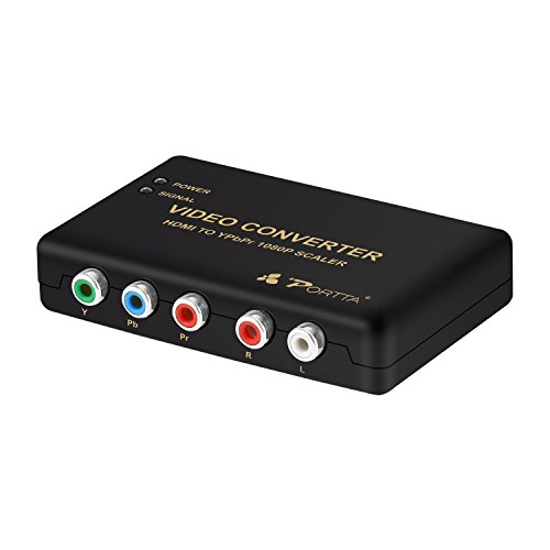 Portta PETHRS 1080p HDMI zu Component Video YPbPr Scaler-Konverter 4-kanal-amp Cinch