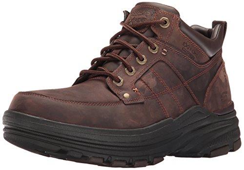 Skechers Mens Holdren Lender Chukka Boot, Dark Brown, 8 D(M) US