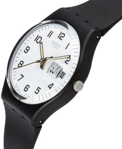 2c9fa044b621a Swatch Once Again White Dial Black Strap Mens Watch