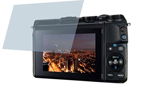 Canon EOS M3 (2 Stück) PREMIUM Displayschutzfolie Bildschirmschutzfolie kristallklar - KRATZFEST UND PASSGENAU