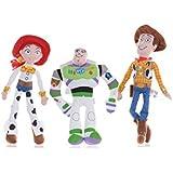 """Toy Story 3 Soft Toy 8"""" Set (Buzz, Woddy & Jess)"""