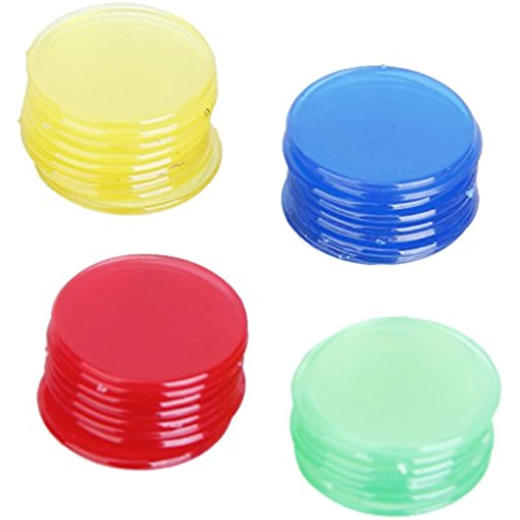 Homyl 4 Colores Diseno Translucido De Plastico Bingo Chips