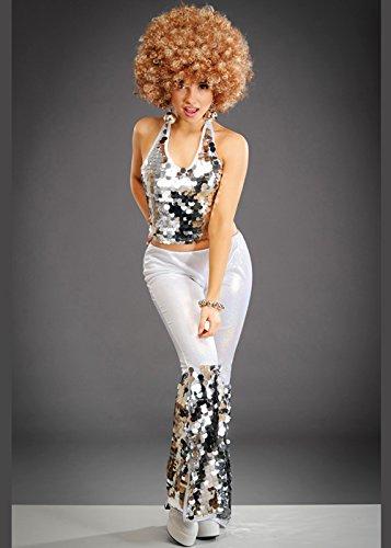 Damen Silber 70er Jahre Disco-Diva - Mamma Mia Fancy Dress Kostüm