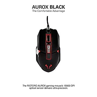 RIOTORO Aurox Prism RGB Gaming Mouse - Black