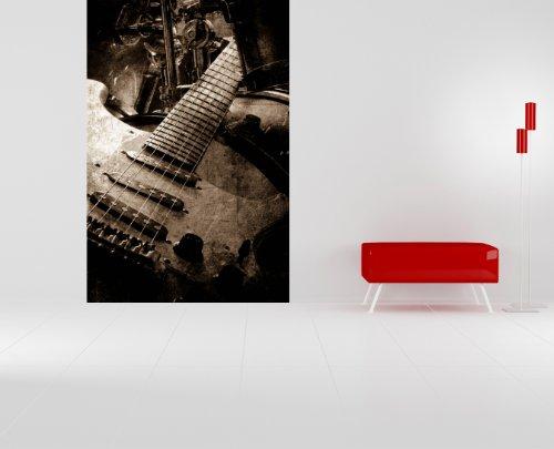 "selbstklebende Fototapete mit Winter SALE ""Musik - sephia"" 100x150 cm - Tapete mit Kleber – Wandtapete – Poster – Dekoration – Wandbild – Wandposter – Wand – Fotofolie – Bild – Wandbilder - Wanddeko"